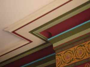 Decorative cornice in Victorian home