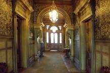 Hall with Gilt Embossed Wallpaper in Melbourne's Labassa Heritage Mansion