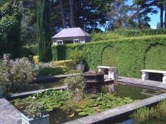 Gardens with reflecting pool at Beleura Mansion