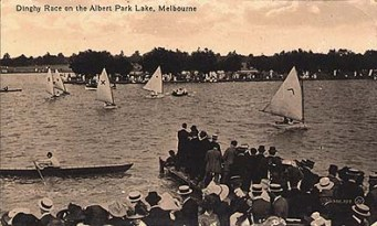 Dinghy race on the Albert Park Lake