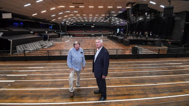 Festival Hall development John Wren ll (left) and Chris Wren of Stadiums Pty Ltd