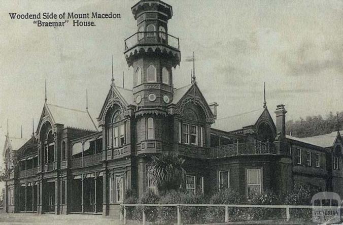 Braemar House, Woodend side of Mount Macedon, c1910
